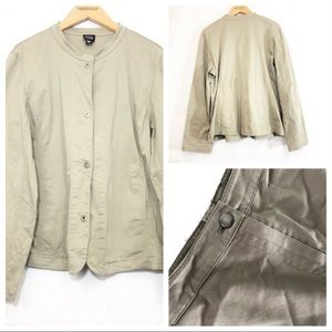 Eileen Fisher Suit Set Jacket Pants Olive Career